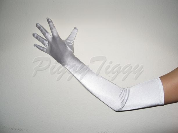 "23"" White Stretch Long Formal Wedding Bridesmaid Prom ..."
