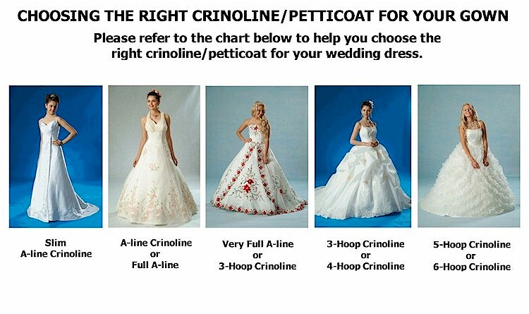 Huge 6-Hoop Wedding Gown Bridal Dress Costume Crinoline Petticoat ...