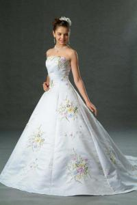(B3169) Delightful Pastel A-Line Bridal Gown