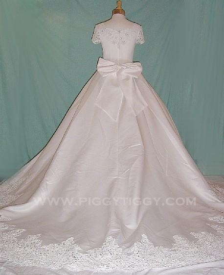 Wedding Gowns With Swarovski Crystals: (BVR030WT) Gorgeous Bridal Gown With Swarovski Crystals
