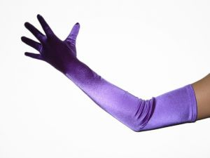 "23"" (58 cm) Purple Gloves (NEW $8.99) Opera Prom Wedding Bridal Party Long Stretch (glsh101pp23)"